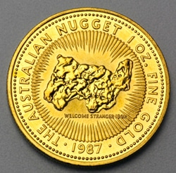 goldankauf.com.de - Goldmünze Australian Nugget 1987.