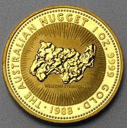 goldankauf.com.de - Goldmünze Australian Nugget 1988.