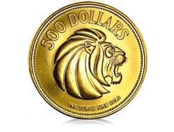 goldankauf.com.de - Goldmünze Lion (Singapur).