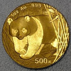 goldankauf.com.de - Goldmünze Panda 2001.